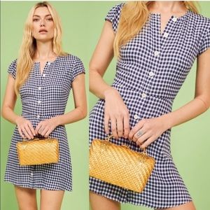 Reformation NWT Gingham Dress